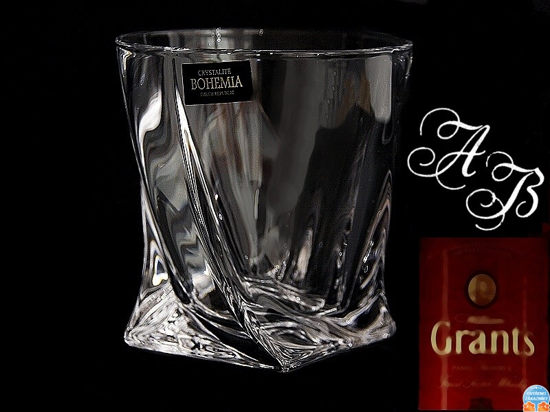 1x Quadro whisky Glas [ Kristallglas - whisky gläser mit gravur ...