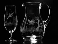 Set 2x beer glass 360 ml and 1500 ml 1x Jug - HUNTING THEME