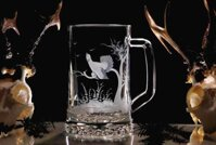 Pint-with wood grouse - beer glasses