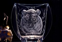 Engraved Vase with HEAD OF TIGER