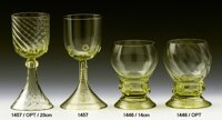 2x Historical Glass - wine glasses 1446/MOP/14CM