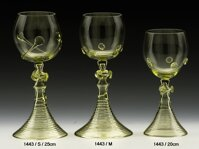 2x Historical Glass - wine glasses 1443/M/19 cm