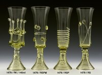 2x Historical Glass - Glass champagne 1479/RSP/140ml