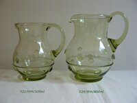 Historical Glass - pitcher 1122/SPM/ 500 ml  a pitcher 1129/SPM/ 800 ml