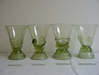 Historical Glass - 2x glass liquor 1266