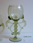 1x Historical Glass - wine glasses  14035/25 cm