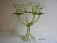 Candlestick of historical glass - 1612/4/28 cm