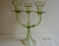 Candlestick of historical glass - 1612/3/28 cm