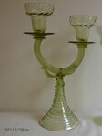 Candlestick of historical glass  - 1612/2/28 cm