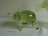 Blown glass elephant from a historical GLASS 1902/13cm