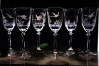 Angela 6x wine glass 250 ml - hunting decor
