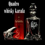 1x Quadro whisky Bottle with foto