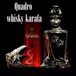 1x Quadro whisky Bottle with monograms