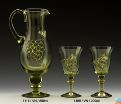 Carafe of historical glass - 1116/VN/800 m