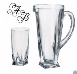 Quadro Long drink set- 7 kusů s monogramem